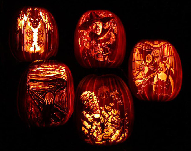 Just a few of the pumpkin carvings by Las Vegas local, Bryan Yeager of Killer Pumpkins. Catch his talents at the Summerlin Festival of the Arts, October 11-12 at Downtown Summerlin.