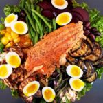 Grilled Vegetable Nicoise Salad With Salmon