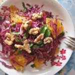 Purple Cabbage, Orange & Walnut Salad